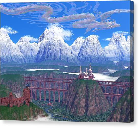 Wind Serpent Canvas Print by Diana Morningstar