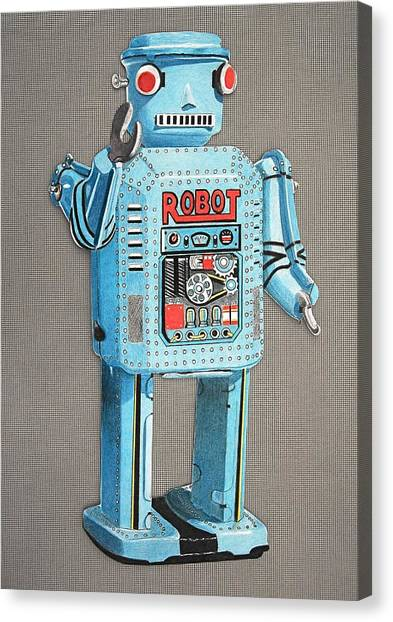 Wind-up Robot 2 Canvas Print