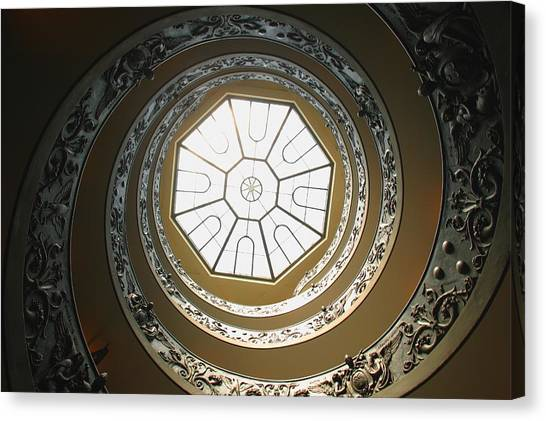 The Vatican Museum Canvas Print - Winding Staircase, Vatican Museums by Carson Ganci