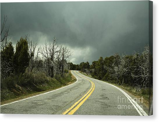 Winding Two Lane Road Canvas Print by Ned Frisk