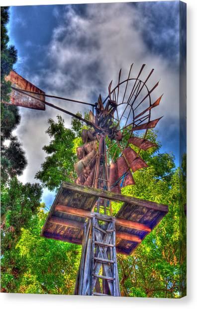 Windmill Hdr Canvas Print
