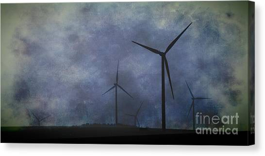 Windmills. Canvas Print