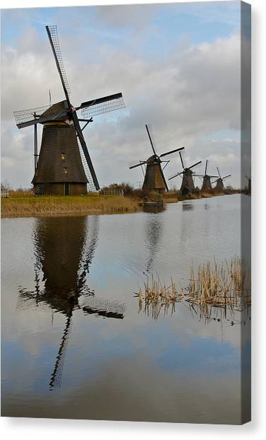 Windmills Canvas Print by Javier Luces