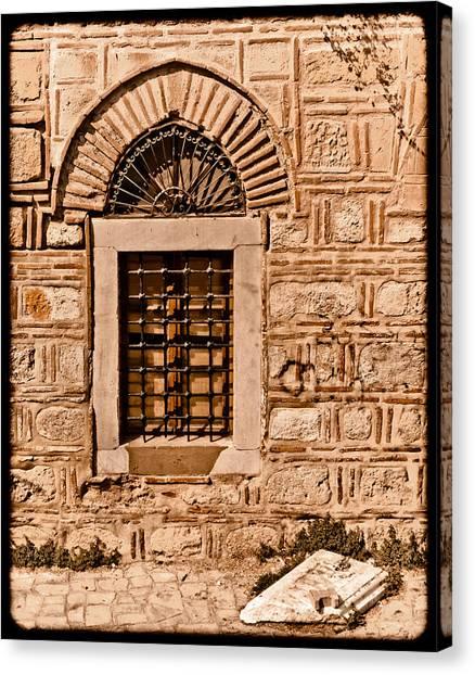 Athens, Greece - Window Break Canvas Print
