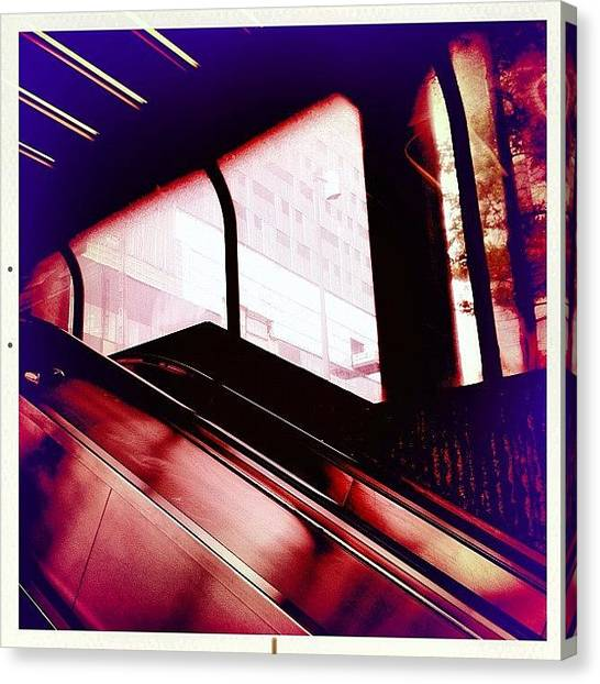 Quebec Canvas Print - #window #glass #metro #subway by Nicolas Marois
