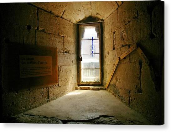 Window In The Abbey Of Senanque Canvas Print by Christine Burdine
