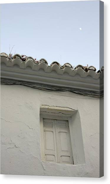 Window Of An Old Spanish House Canvas Print by Perry Van Munster