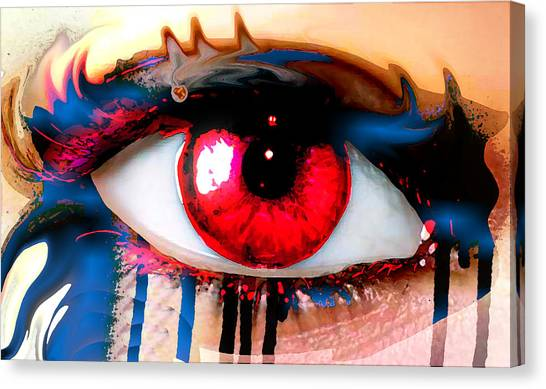 Window Of The Soul - Love Canvas Print by Eleigh Koonce