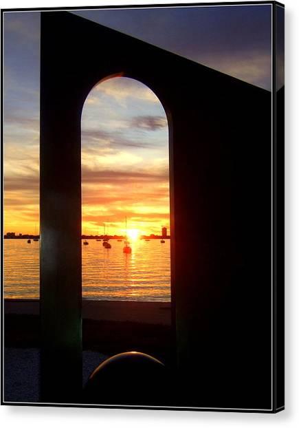 Window To The Bay Canvas Print by Satya Winkelman