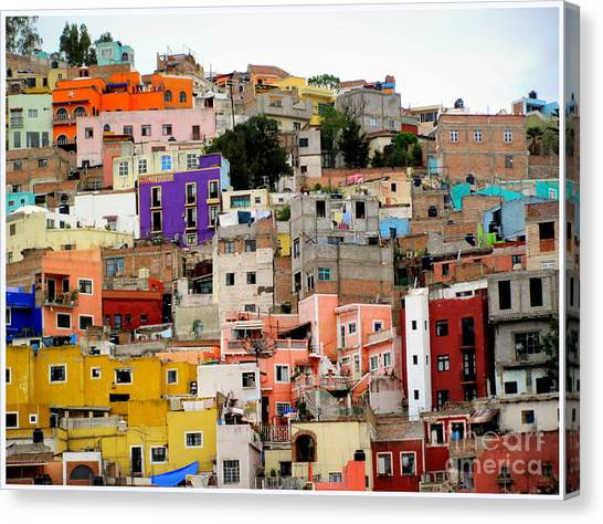 Windows In Guanajuato  Canvas Print