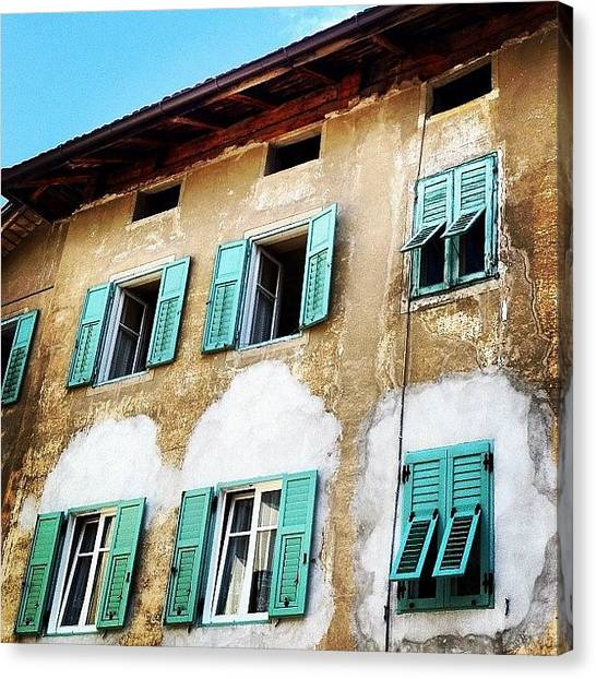 House Canvas Print - Windows by Luisa Azzolini