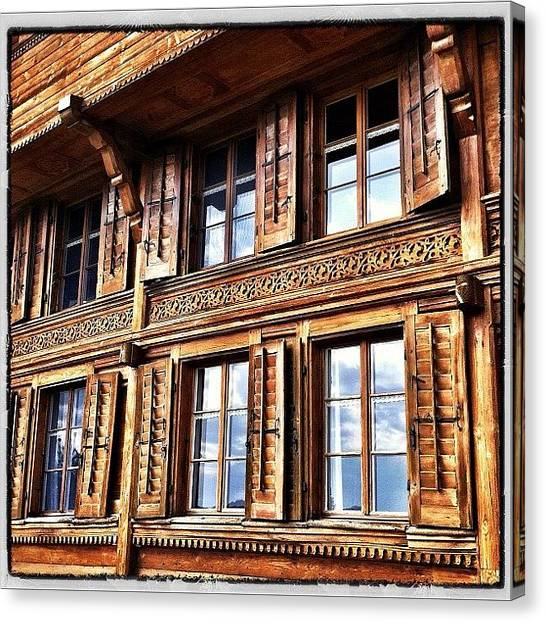 Swiss Canvas Print - Windows. Not From Microsoft by Urs Steiner