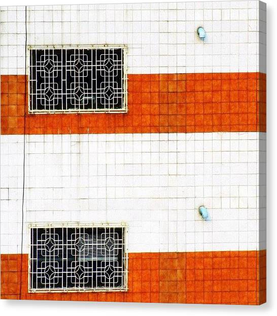 Minimalism Canvas Print - Windows Of Opportunity #windows #two by A Rey