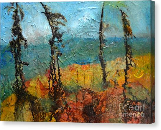 Windswept Pines Canvas Print