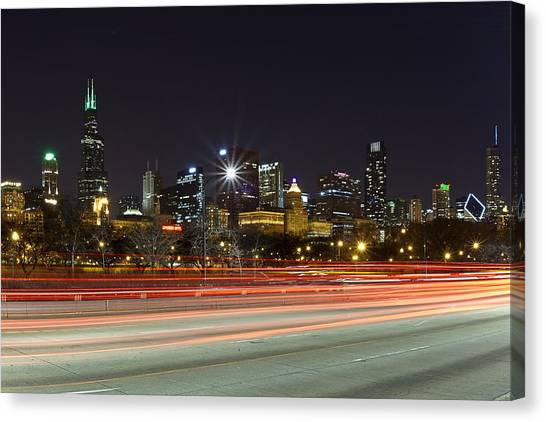 Windy City Fast Lane Canvas Print