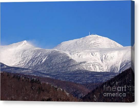 Windy Day At Mt Washington Canvas Print