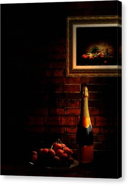 Old Houses Canvas Print - Wine And Grape by Lourry Legarde