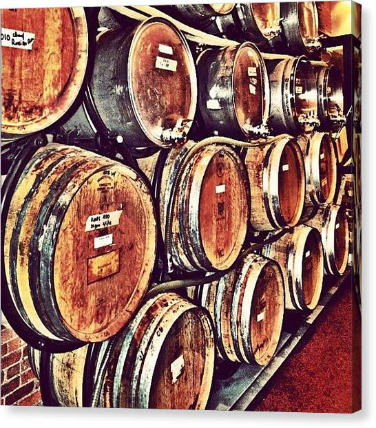 Wine Barrels Canvas Print - Wine Barrels. #wine #newyorkcitywinery by Richard Randall