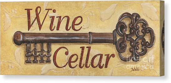 Winery Canvas Print - Wine Cellar by Debbie DeWitt