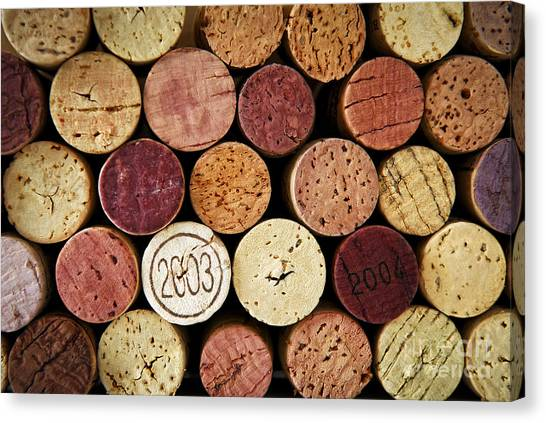 Cork Canvas Print - Wine Corks by Elena Elisseeva