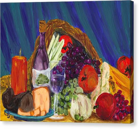 Wine Cornucopia Canvas Print