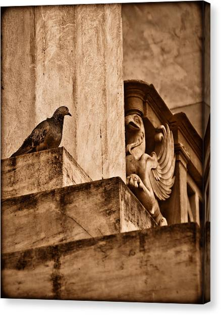 Athens, Greece - Winged Encounter Canvas Print