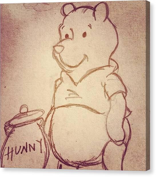 Bears Canvas Print - Winnie The Pooh 😊💕🐻 by B C