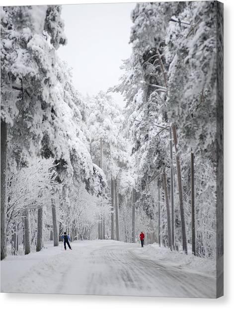 Winter Activities Canvas Print