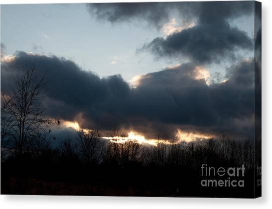Winter Afternoon Clouds Canvas Print by Gary Chapple
