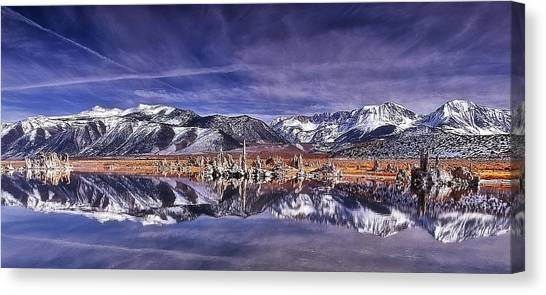 Winter Around The Lake Canvas Print