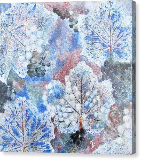 Winter Grapes I Canvas Print by Karen Fleschler