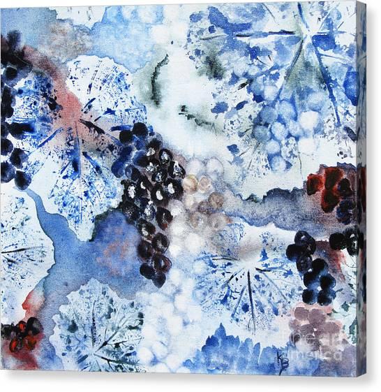 Winter Grapes IIi Canvas Print by Karen Fleschler