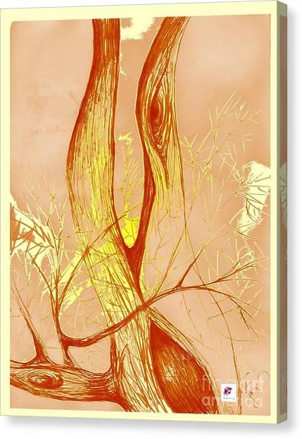 Winter Greenlake Tree 3 Canvas Print