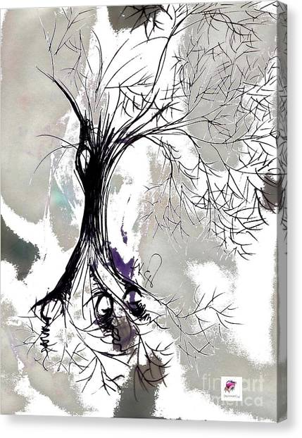 Winter Greenlake Tree Canvas Print
