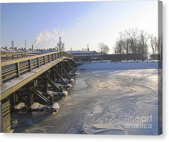 Winter In Peterburg Canvas Print