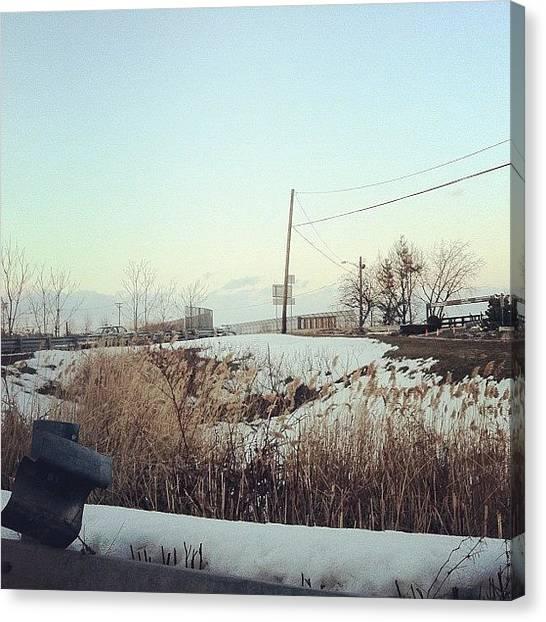 Jerseys Canvas Print - Winter by Kristenelle Coronado