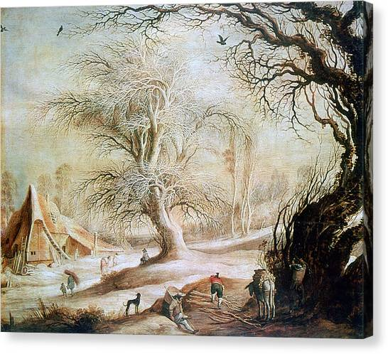 State Hermitage Canvas Print - 'winter Landscape', 17th Century, Painting by Photos.com