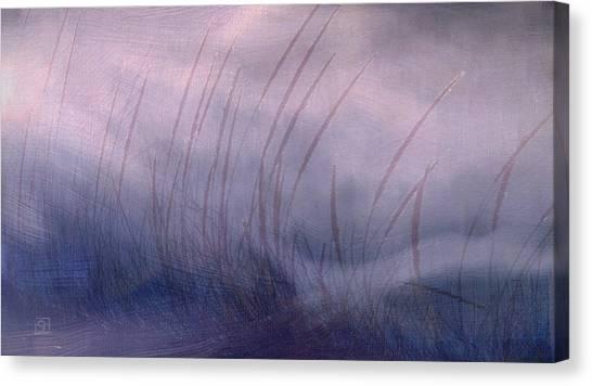 Winter Long Grass Canvas Print