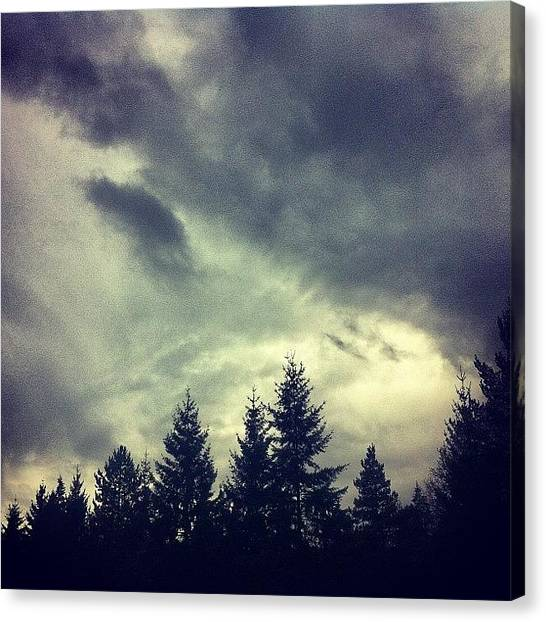 Rainclouds Canvas Print - #winter #pdx #portland #oregon by Karen Clarke