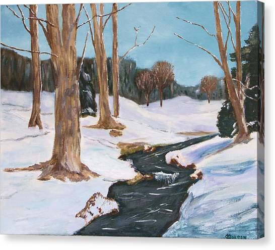 Winter Solitude Canvas Print