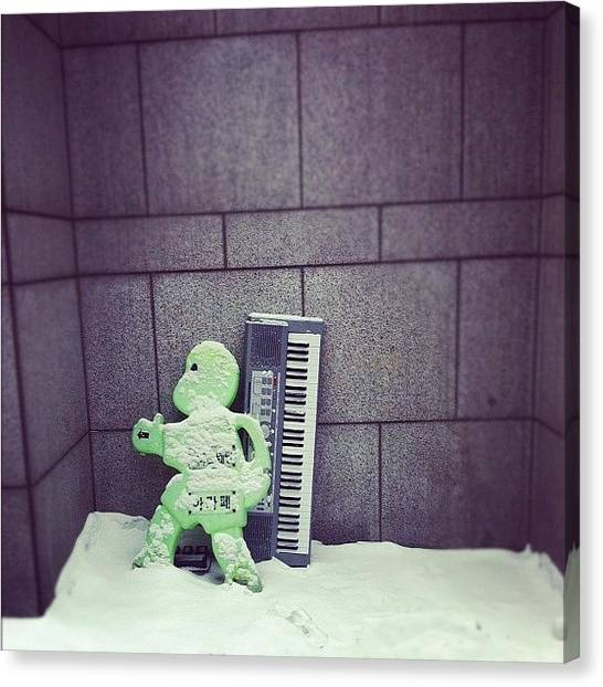 Keyboards Canvas Print - #winter #sucks I Know... #playitagain by Wilfred Lee