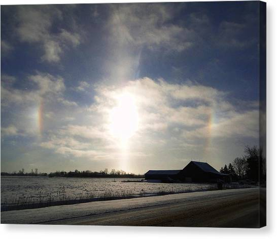 Winter Sun Dogs Canvas Print