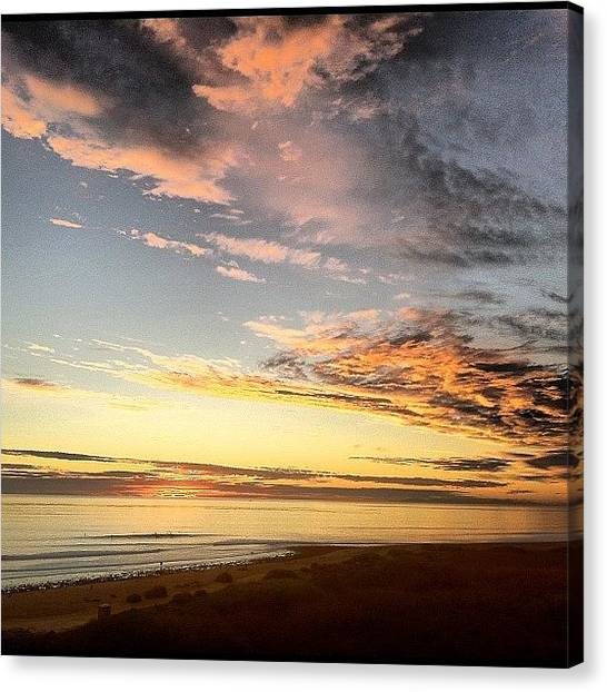 Ocean Sunsets Canvas Print - Winter Sunset And Trestles #sunset by Paul Carter
