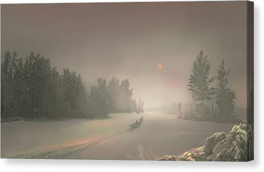 Winter Sunset Canvas Print by Igor Zenin