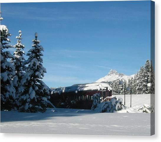 Winter Train Canvas Print