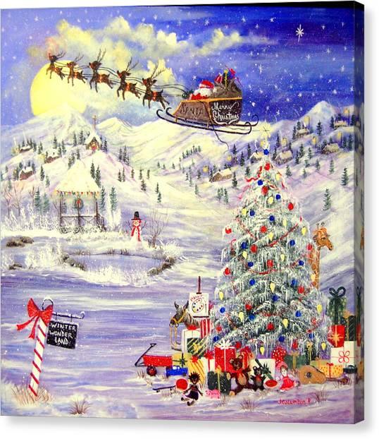 Winter Wonder Land Canvas Print by Janna Columbus