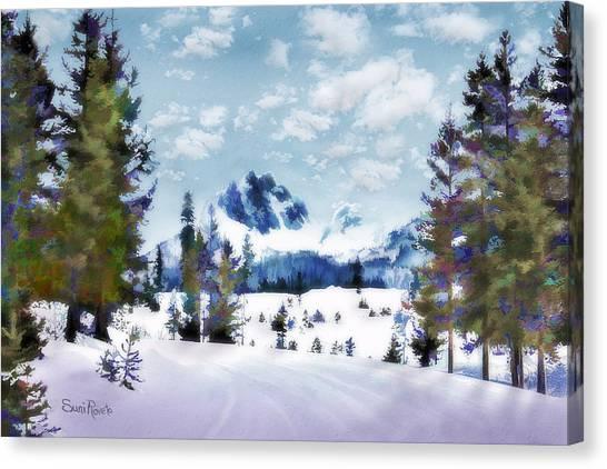 Winter Wonderland Canvas Print by Suni Roveto