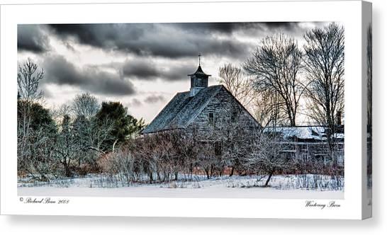 Wintering Barn Canvas Print by Richard Bean