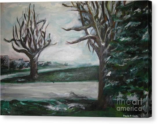 Winterland Slumber Canvas Print by Paula Cork