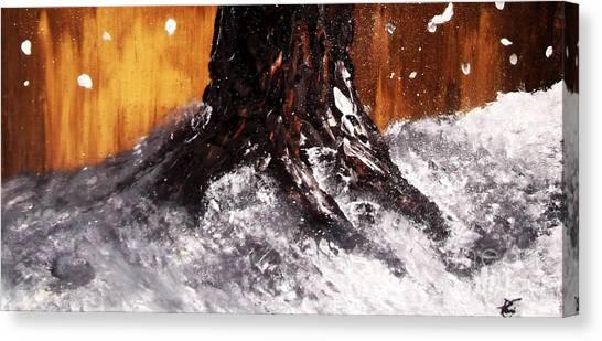 Wintertree Trunk Canvas Print
